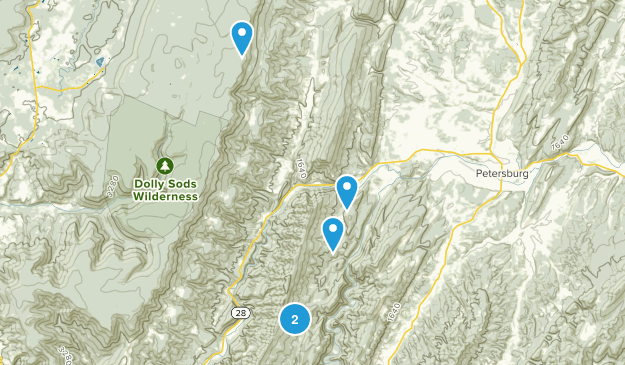Cabins, West Virginia Nature Trips Map