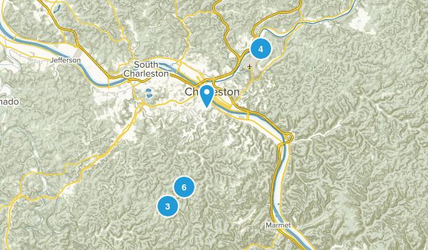 Charleston, West Virginia Birding Map