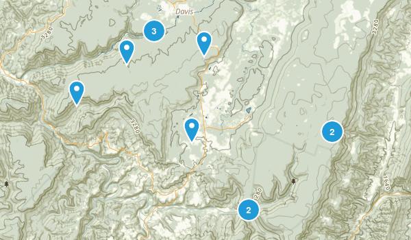 Davis, West Virginia Hiking Map