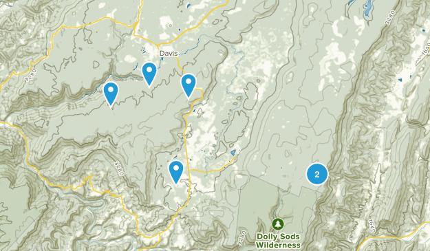 Davis, West Virginia Nature Trips Map