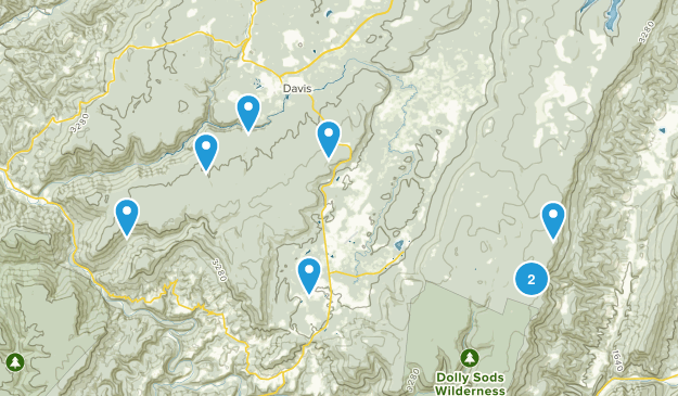 Davis, West Virginia Views Map