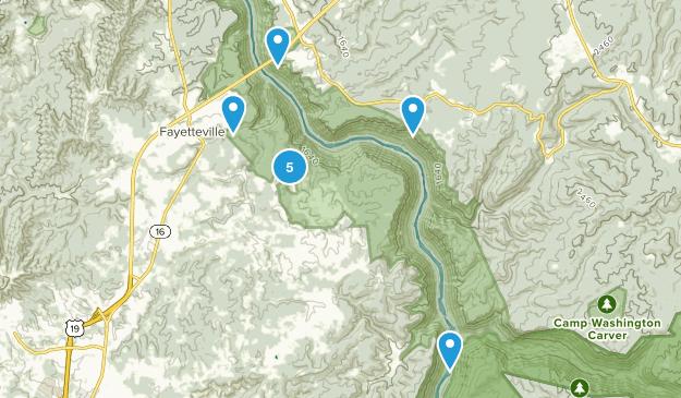 Fayetteville, West Virginia Birding Map