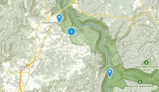 Fayetteville, West Virginia Mountain Biking Map