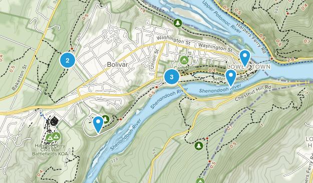 Harpers Ferry, West Virginia Birding Map