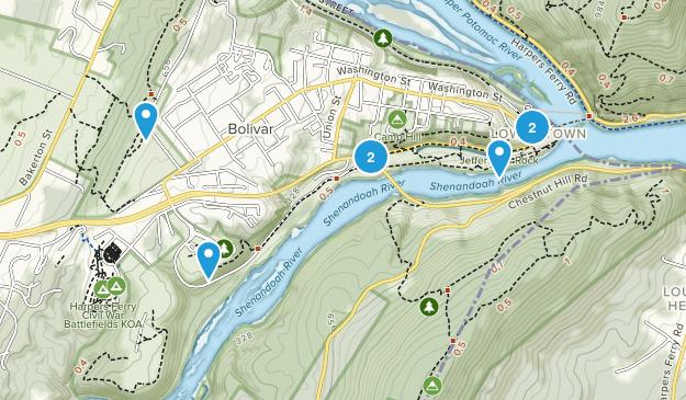 Harpers Ferry, West Virginia Wild Flowers Map