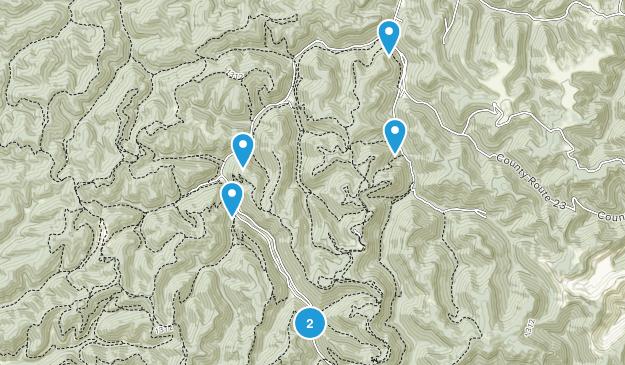 Hernshaw, West Virginia Dogs On Leash Map