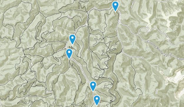 Hernshaw, West Virginia Forest Map
