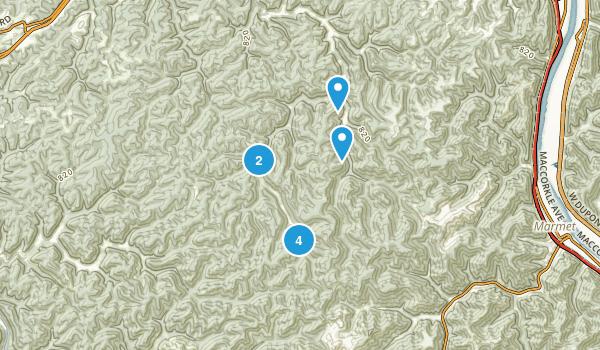 Hernshaw, West Virginia Hiking Map