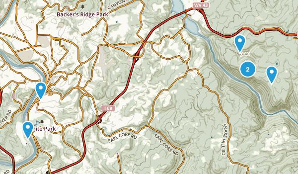 Morgantown, West Virginia Dogs On Leash Map