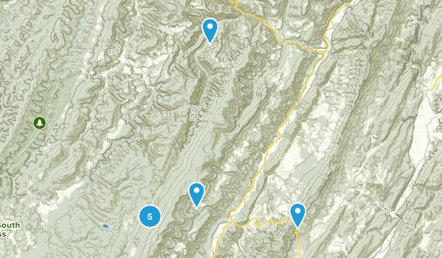 Riverton, West Virginia Hiking Map