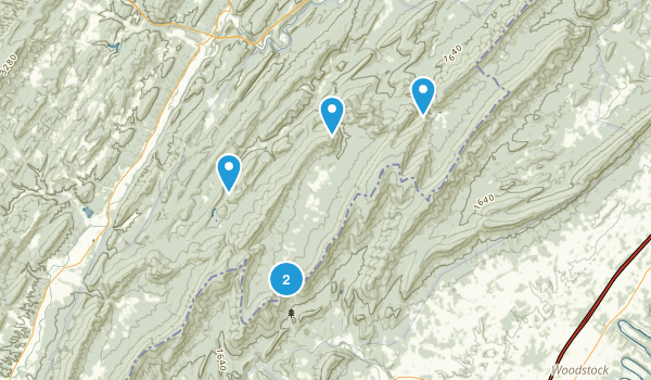 Wardensville, West Virginia Dogs On Leash Map