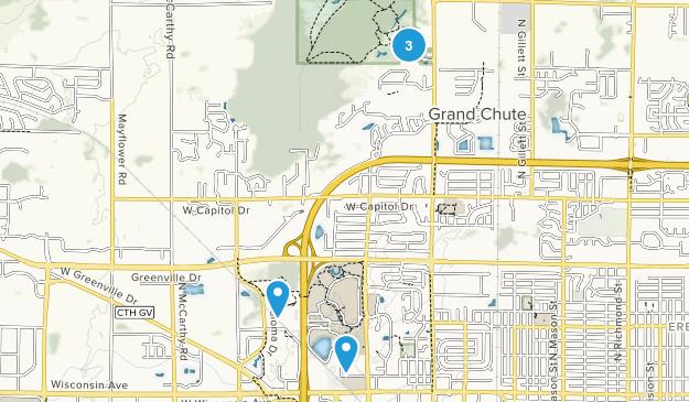 Appleton, Wisconsin Walking Map