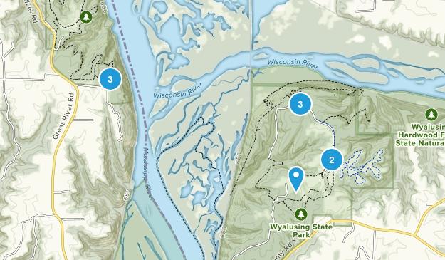 Bridgeport, Wisconsin Hiking Map
