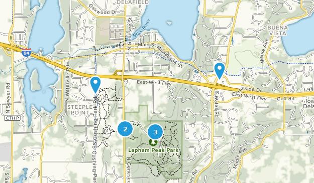 Delafield, Wisconsin Bird Watching Map