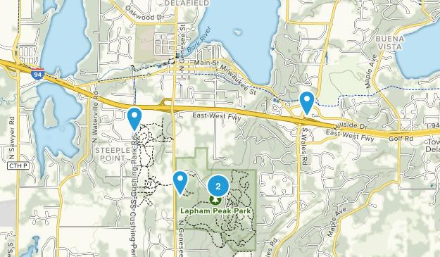 Delafield, Wisconsin Trail Running Map