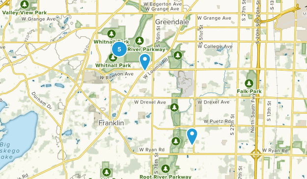 Franklin, Wisconsin Nature Trips Map