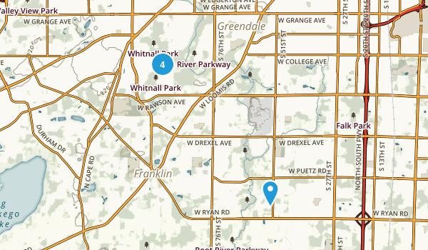Franklin, Wisconsin Walking Map