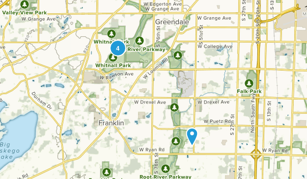 Franklin, Wisconsin Walking Map