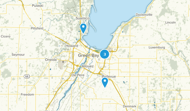 Green Bay, Wisconsin Hiking Map