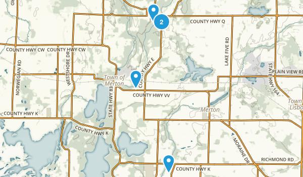 Hartland, Wisconsin Hiking Map