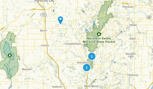 Kewaskum, Wisconsin Wild Flowers Map