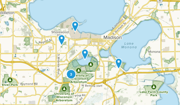 Madison, Wisconsin Forest Map