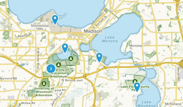 Madison, Wisconsin Nature Trips Map