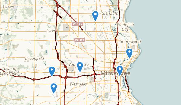 Milwaukee, Wisconsin Birding Map