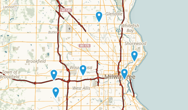 Milwaukee, Wisconsin Birding Map