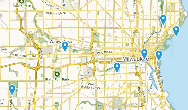 Milwaukee, Wisconsin Dogs On Leash Map