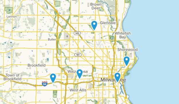 Milwaukee, Wisconsin Forest Map