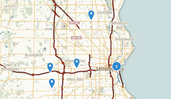 Milwaukee, Wisconsin Hiking Map
