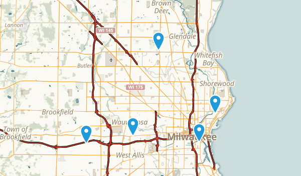 Milwaukee, Wisconsin Nature Trips Map