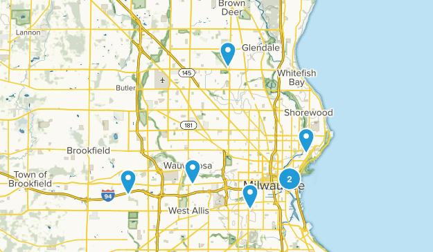 Milwaukee, Wisconsin River Map