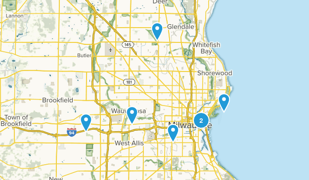 Milwaukee, Wisconsin Trail Running Map