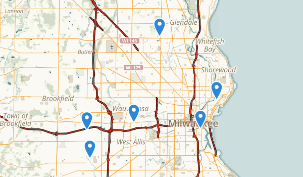 Milwaukee, Wisconsin Views Map