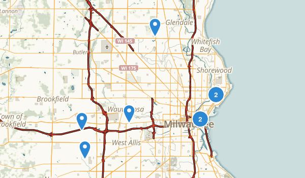 Milwaukee, Wisconsin Walking Map