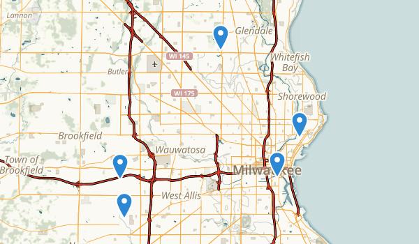 Milwaukee, Wisconsin Wild Flowers Map