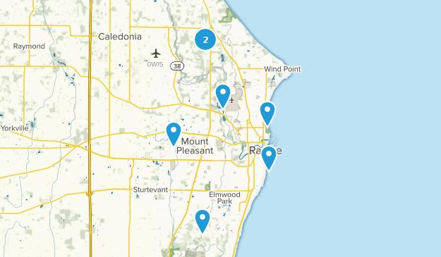 Racine, Wisconsin Bird Watching Map