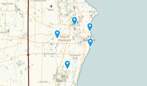 Racine, Wisconsin Hiking Map