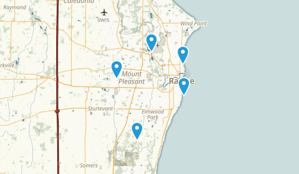 Racine, Wisconsin Trail Running Map
