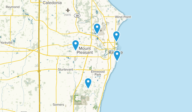 Racine, Wisconsin Walking Map