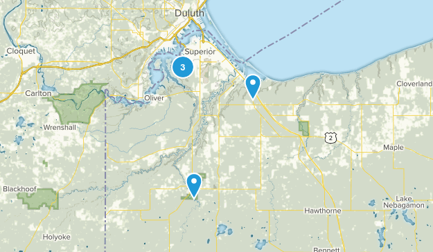 Superior, Wisconsin Walking Map