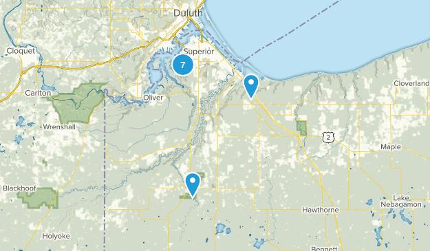 Superior, Wisconsin Wildlife Map
