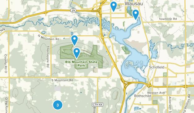 Wausau, Wisconsin Nature Trips Map
