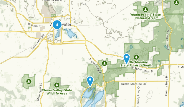 Whitewater, Wisconsin Kid Friendly Map