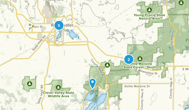 Whitewater, Wisconsin Wild Flowers Map