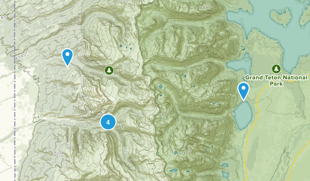 Alta, Wyoming Backpacking Map