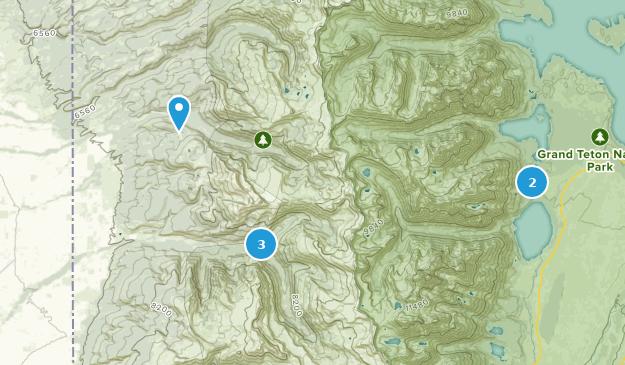 Alta, Wyoming Camping Map