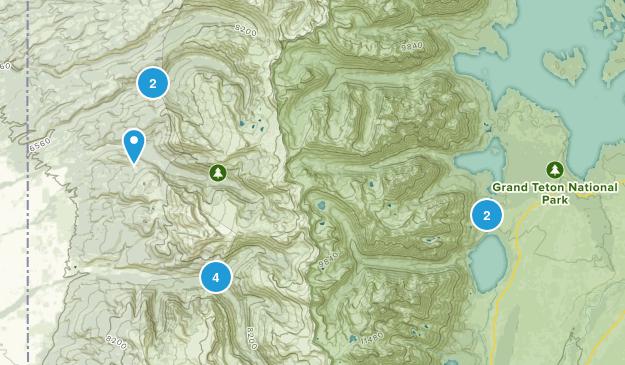 Alta, Wyoming Lake Map